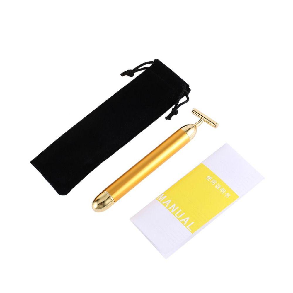 Pro Slimming Face 24k Gold Lift Bar Vibration Facial Beauty Care Vibration Facial Beauty Massager Energy Vibrating Bar Face Tool