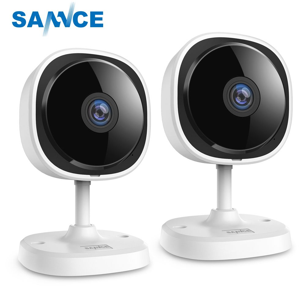 SANNCE 2pieces HD 1080P Fisheye IP Camera Home Security Camara Wireless Wifi Mini Camara Night Vision IR Cut Wi-Fi Baby Monitor