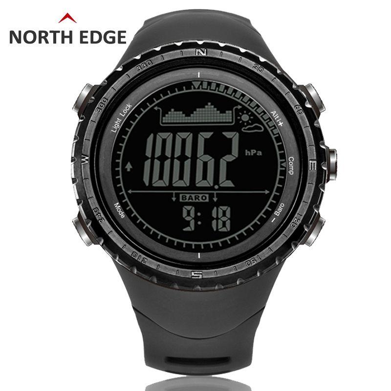 Для мужчин спортивный цифровые часы часов Бег Одежда заплыва часы, барометр, альтиметр Компасы термометр погода шагомер цифровые часы