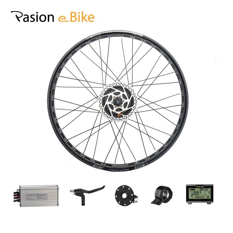 PASION E BIKE 48V 1000W Electric Bicycle Conversion Kits 20'' 26 Fat Bike Rear Wheel Brushless Gear Motor Kits 190mm Hub Motor