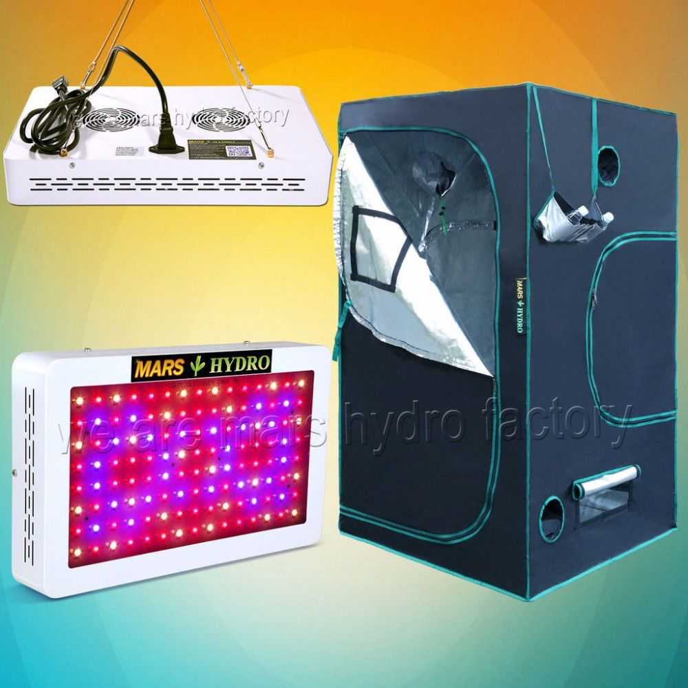 Mars 600W Led Grow Light Veg Flower and 100x100x180cm Indoor Grow Tent Room Box