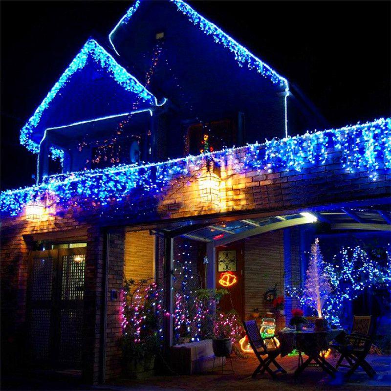 6 м 256 лампы Шторы светодиодные фонари украшения свадебные Свет струнные Новогодние товары Гирлянды Новогодние для отдыха и вечеринок декор...