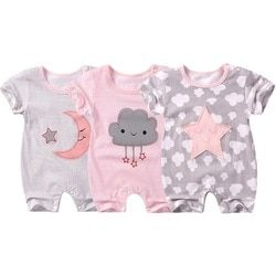 baby girls clothes baby rompers Short sleeve Newborn Infant Baby Boy Girl clothes Cartoon Printed Jumpsuit Climbing Clothes