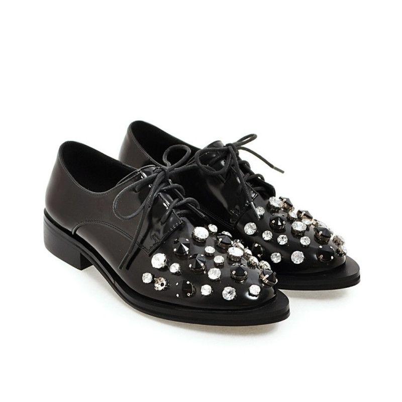 Marca 2017 Oxford Zapatos de Mujer Zapatos Planos de Las Mujeres de Calidad de Cuero Genuino Oxfords Moda Hebillas Mujer Calzado Retro Mujeres Famosas