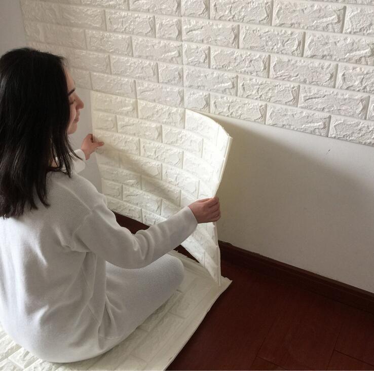 Bathroom Kitchen Waterproof Wall Sticker /3D Mosaic Tile Wallpaper Stickers/PVC Self Adhesive Fashion Home Decor Sticker