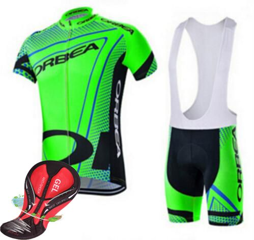 100% polyester!Quick dry breathable fluorescent green Orbea bike jersey/Ropa Ciclismo bike bicycle dress clothes