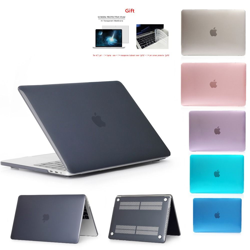 Crystal\Matte Case For Apple Macbook Air Pro Retina 11 12 13 15,for Mac book New  Pro 13.3 15.4 inch With Touch Bar,A1932+Gift