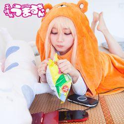 Бесплатная доставка Himouto! Umaru-chan Плащ Аниме Umaru chan Doma Umaru Косплей Костюм фланели плащи одеяло мягкая шапка Толстовка