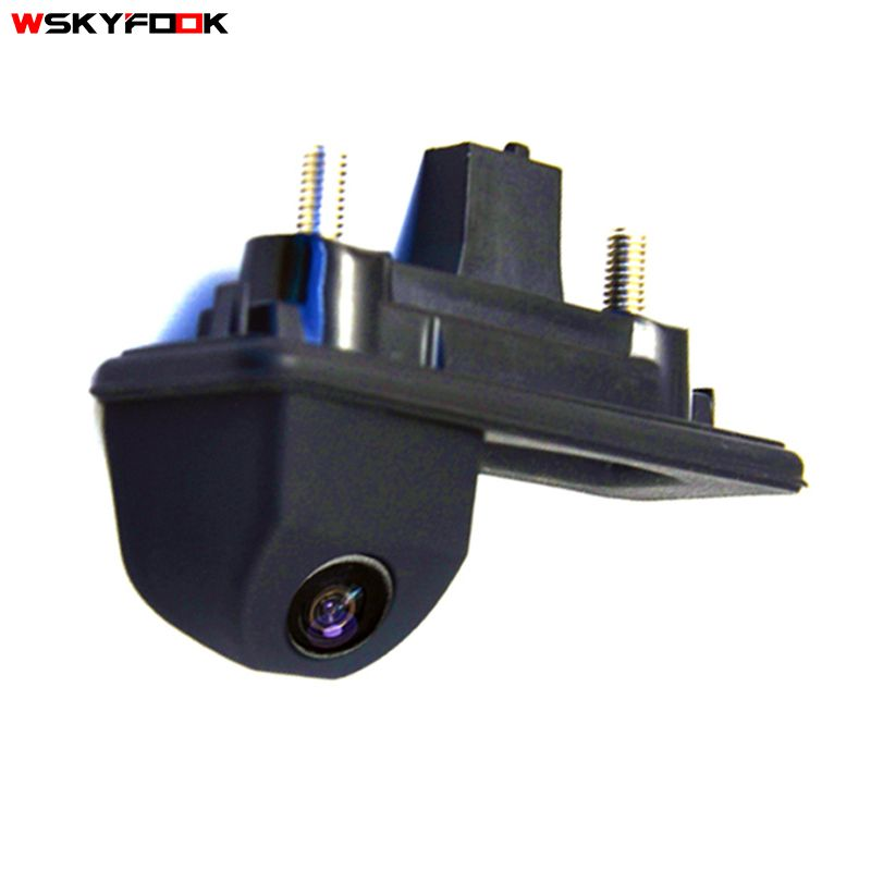 HD ccd night viosn car trunk handle <font><b>reverse</b></font> parking rear view camera for Skoda Roomster Fabia Octavia Yeti superb for Audi A1