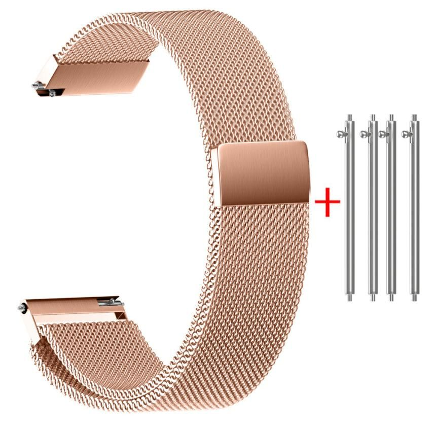 Moment # L04 2018 Watch Band for 14MM 16MM 18MM 20MM 22MM Milanese Magnetic Loop Stainless Steel Watch Strap Bands Drop Shipping