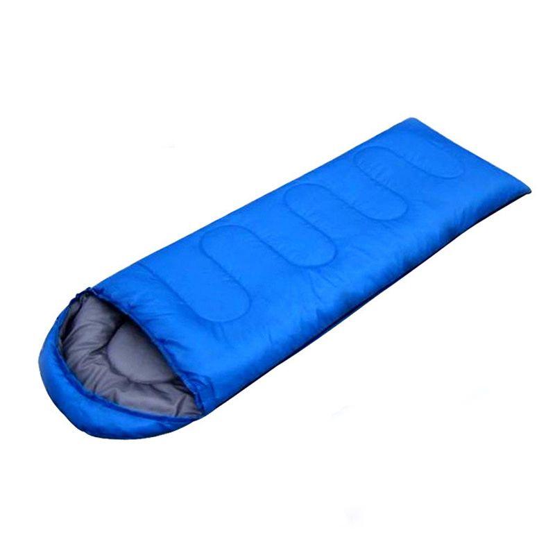 1pc Outdoor Camping Sleeping Bag Warm Envelope Hooded Winter Sleeping Bags Adult Travel Sleep Bag S0H23 T40