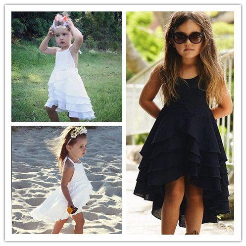 2018 Date Fille Robe D'été Doux Enfant Coton Bébé Enfants Bohême Robe Casual Robes De Plage De Mode Princesse Robe
