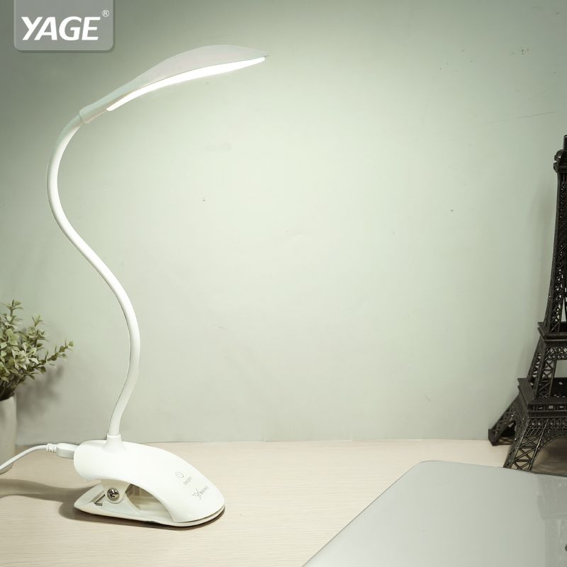 YAGE Desk lamp USB Table Lamp 14 LED Table lamp with Clip Reading Bed Light LED Desk lamp Table Touch on/off Switch YG-5933