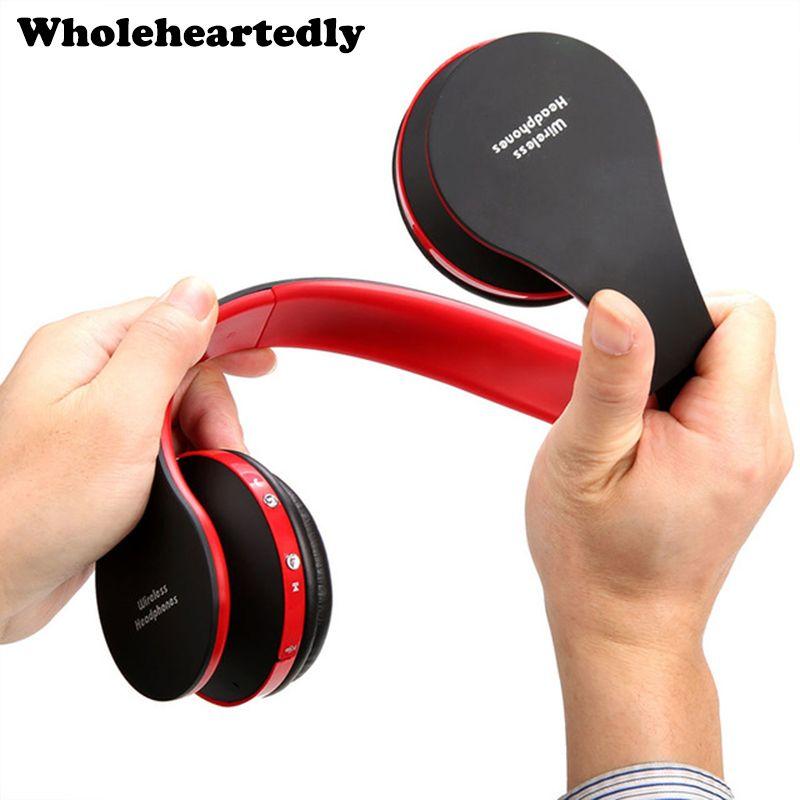 Pliant HiFi Profonde Basse Écouteur Filaire/Sans Fil Stéréo Bluetooth Casque Sur L'oreille Casque Antibruit Avec Micro Mode