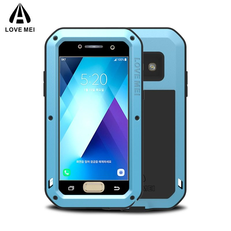LOVE MEI Metal Case For Samsung Galaxy A5 2017 A520 A520F Cover Aluminum Armor Shockproof Waterproof Case For Samsung A5 2017