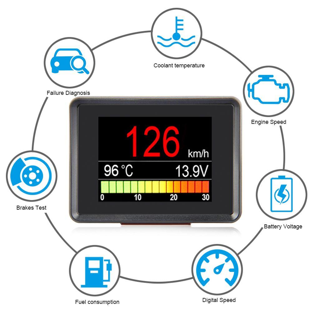 A203 OBD compteur de vitesse carburant ordinateur affichage compteur de consommation jauge de température Automobile ordinateur de bord voiture numérique OBD2
