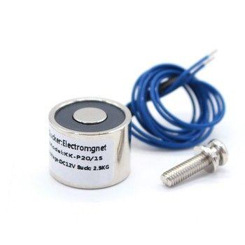 20/15 aspiration 2.5 KG 25N mini électro-aimant solénoïde 12 v électro-aimant 12 volts petit électro aimant 24 V bobine 6 V électrique aimant