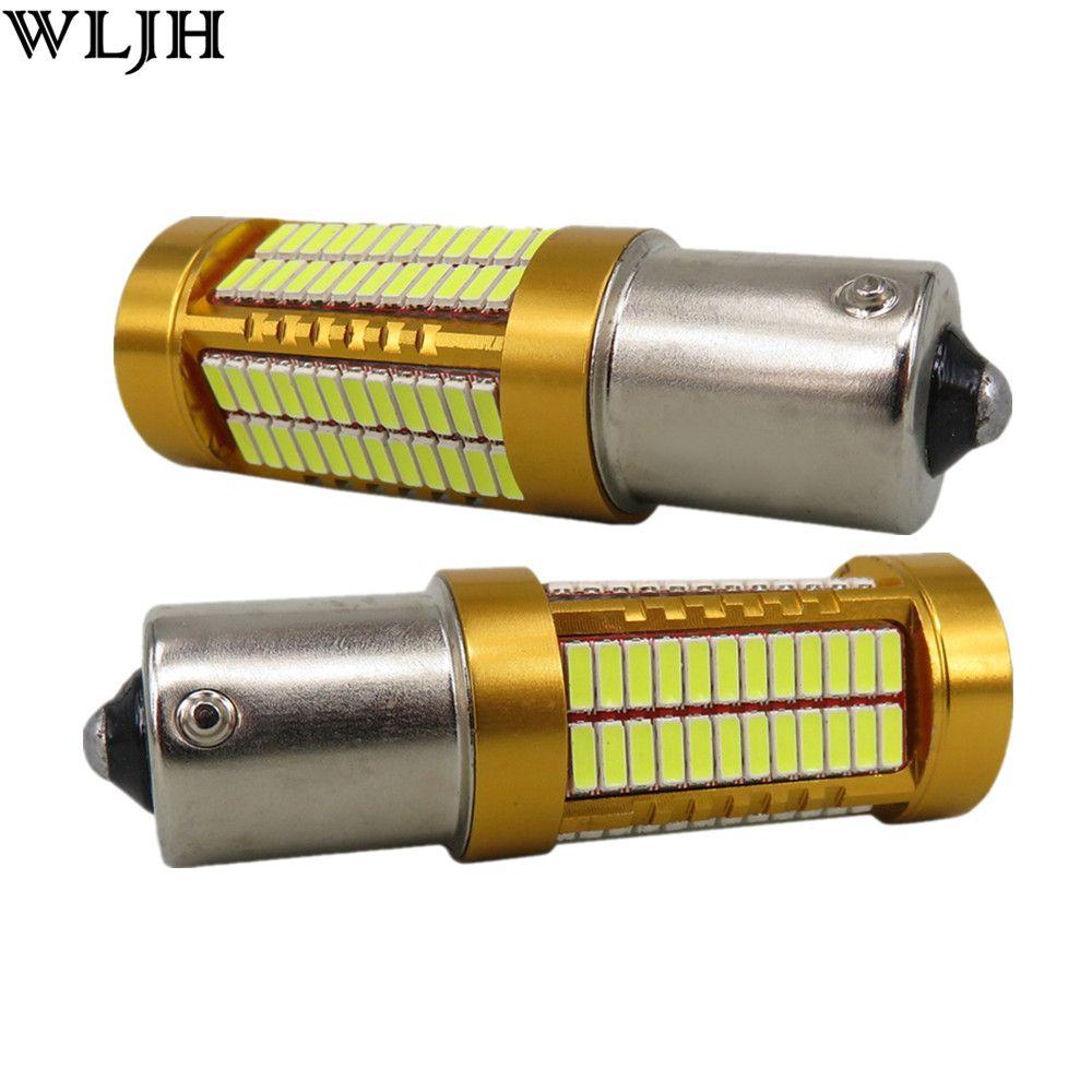 WLJH 2x Canbus Led 20 W 1156 BA15S P21W S25 Ampoule 4014SMD Lampe de voiture D'ÉCLAIRAGE Diurne DRL pour Volkswagen VW T5 T6 TRANSPORTEUR