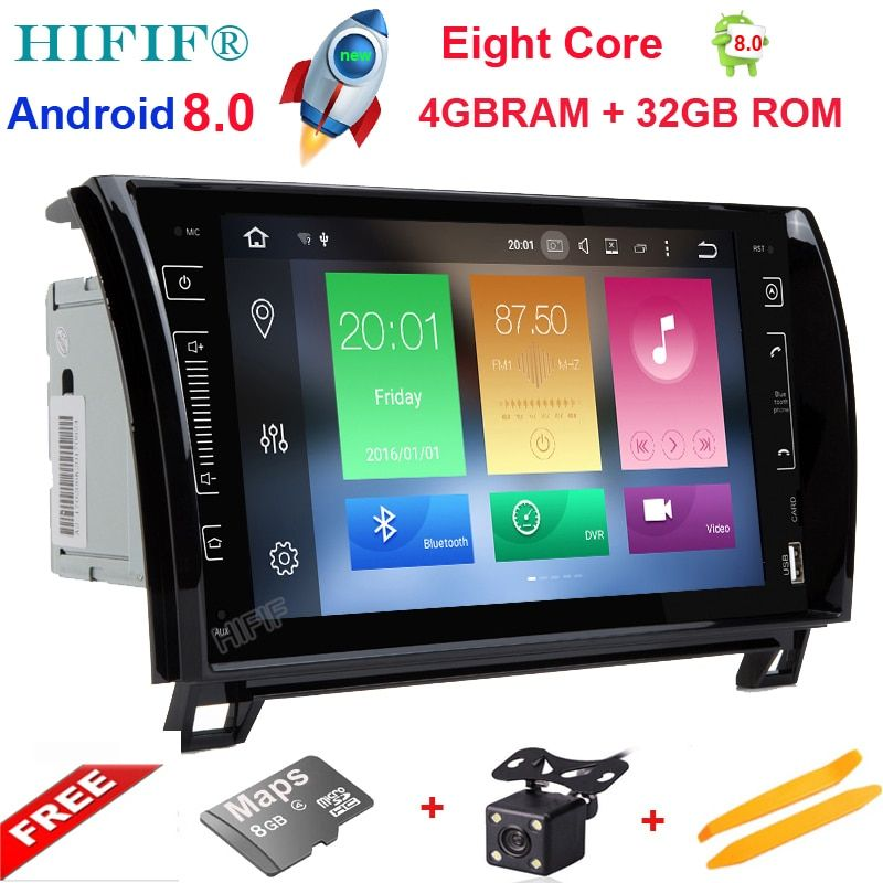 HIFIF Eight Core Android 8.0 Car Radio GPS Navigation Central Multimedia for Toyota Sequoia Tundra 2007 2008 2009 2010 2011 2012