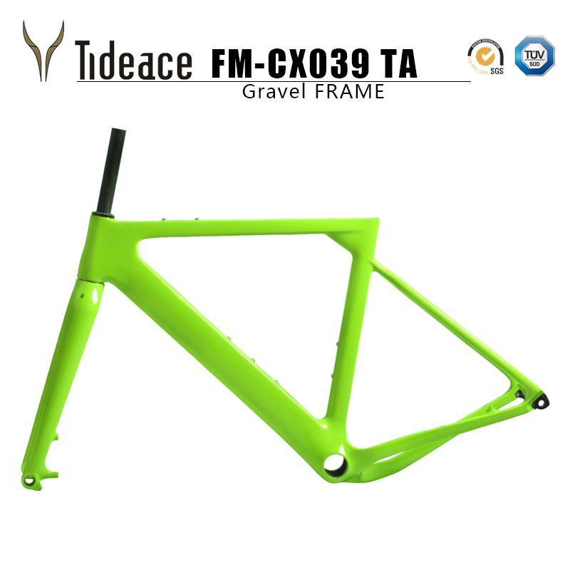 Tideace 2019 Beitrag montieren Aero kies Fahrrad Rahmen S/M/L Disc Fahrrad Carbon Kies rahmen QR oder steckachse