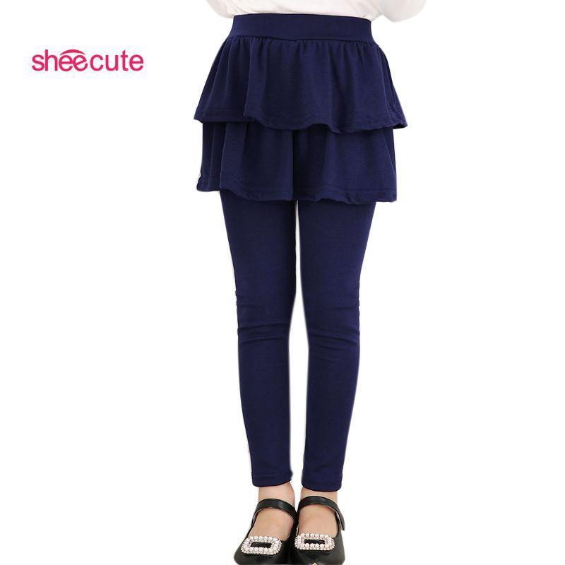 SheeCute nouveauté printemps automne filles leggings filles jupe-pantalon gâteau jupe fille bébé pantalon enfants leggings 3-11y Q2306