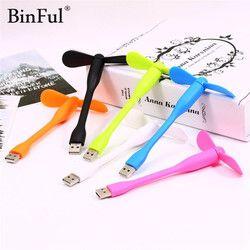 BinFul USB Ventilateur Flexible mini USB Sur Vente Portable Mini ventilateur USB gadgets Pour Banque D'alimentation de la Tablette ordinateur amovible USB ventilateur