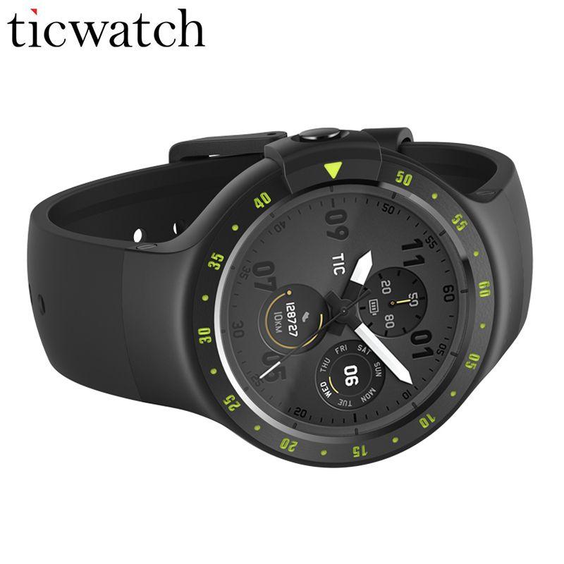 Ticwatch S Sport Smart Uhr MT2601 Android Wear 2,0 GPS Positionierung Herzfrequenz IP67 Wasserdicht Smartwatch Oled-display