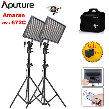 Aputure Amaran HR672C CRI 95+ LED Studio Video Light Color Temperature Adjustable with Battery 2.4G Wireless Remote Light Stand