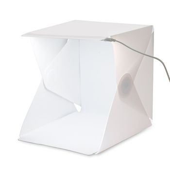 YIXIANG Folding Studio portable photography studio Mini foldable softbox with USB LED light Desktop black white backgound soft