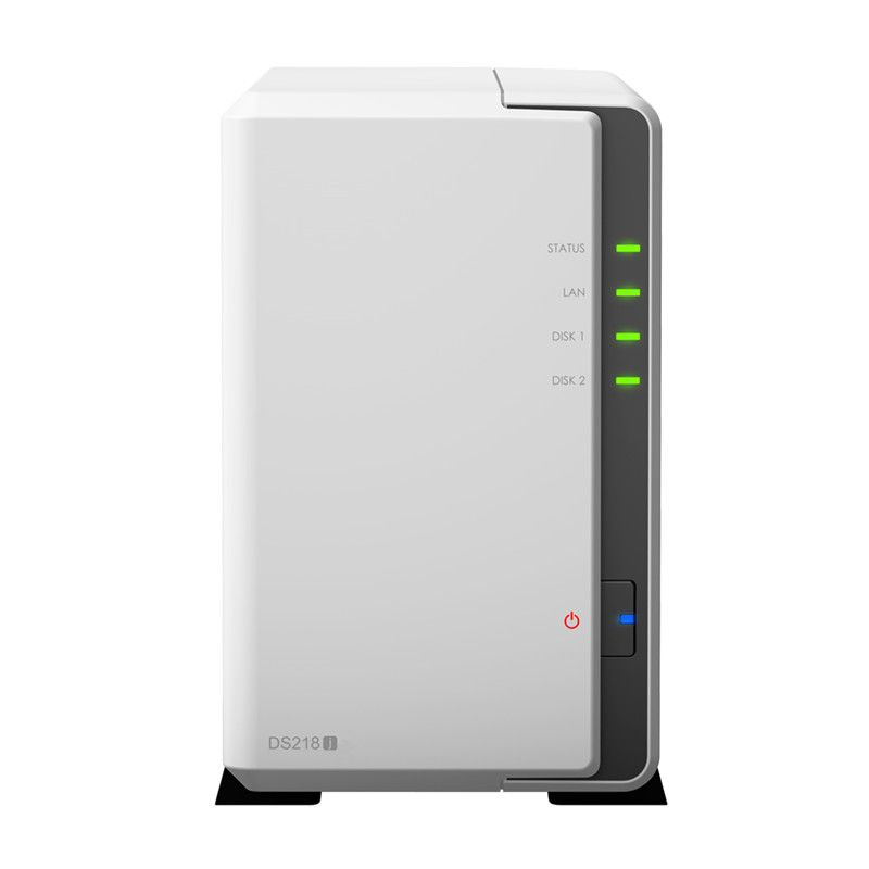 Synology NAS Disk Station DS218j 2-bay diskless nas server nfs netzwerk storage-cloud-storage, 2 jahre garantie Orignal