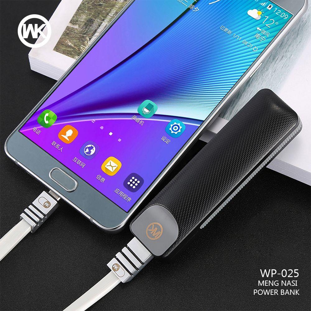 WKDESIGN mini batterie externe chargeur Portable mi Powerbank batterie externe solaire pour iPhone X Xiao mi batterie banque alimentation