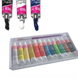 FangNymph Acrylic Paints Set Fabric Paint 12 Colors  Hand Painted Wall Painting Textile Paint Brightly Colored Art Supplies