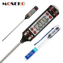 MOSEKO цифровой кухонный термометр для мяса для приготовления воды Пищевой зонд духовка электронный термометр для барбекю бытовые кухонные и...