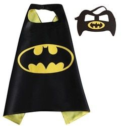 1 piece Kids Superhero capes and masks- 70*70cm Satin Fabric  supplies for kids Children's birthday party Halloween cosplay