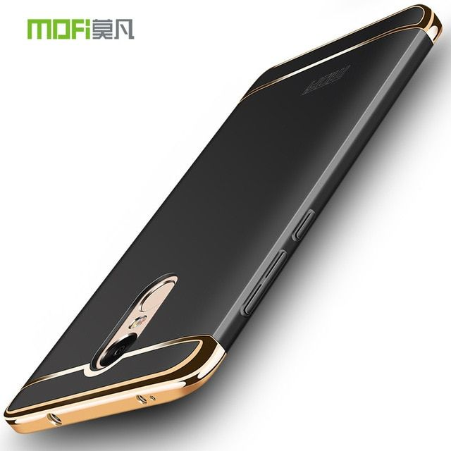 Xiaomi Redmi Note 4 Global Version Case Mofi 3 in 1 Metal Plastic Full Hard Luxury Protective Back Cover