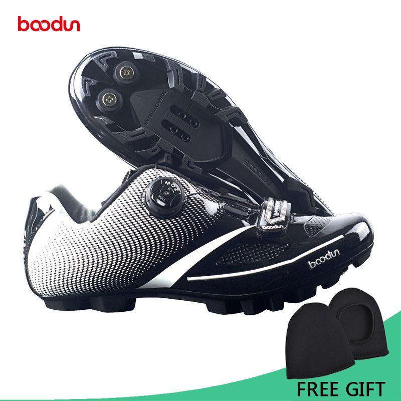 Boodun Atmungs Pro Radfahren Schuhe MTB Fahrrad Selbstsichernde Schuhe Ultraleicht Athletischer Racing Turnschuhe Sapatos de ciclismo