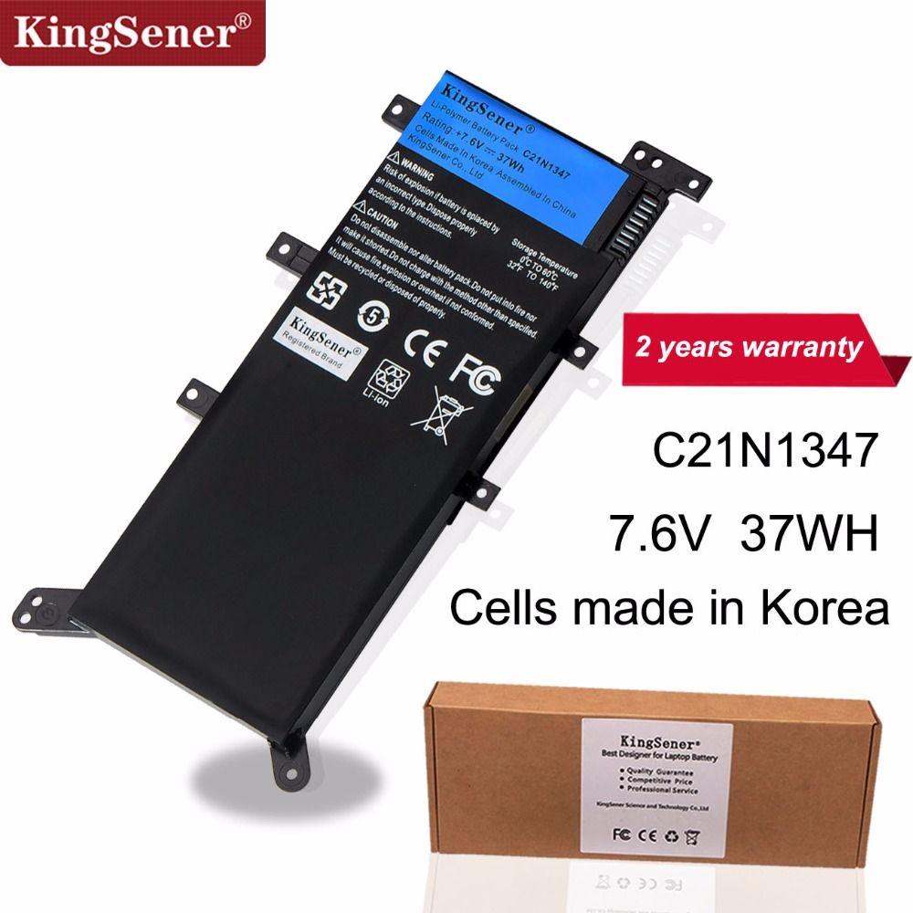 7.5 V 37WH KingSener C21N1347 Nouvelle batterie d'ordinateur portable pour asus X554L X555 X555L X555LA X555LD X555LN X555MA 2ICP4/63/134 C21N1347