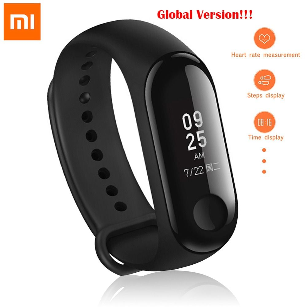 Global Version!! Original Xiaomi Mi Band 3 Smart Bracelet 0.78 inch OLED Instant Message Caller ID Weather Forecate Mi Band 3