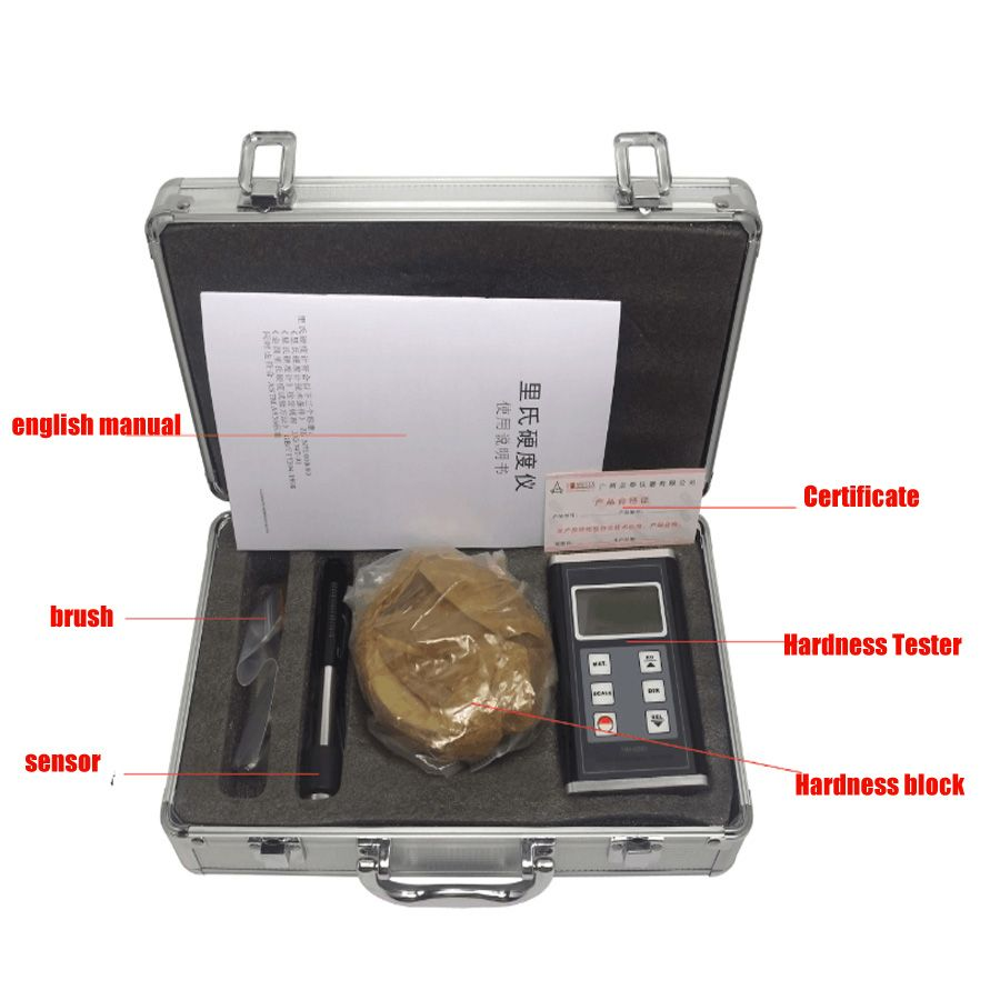 HM-6580 Digital Hardness Tester Portable metal hardness tester Split metal tester measuring instrument Digital Leeb Hardness