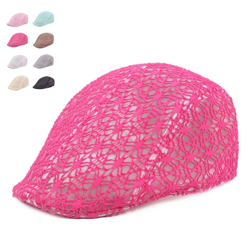 New Fashion Lace Berets Caps For Men Women Adjustabl Casual Unisex Sun Hats Summer Berets Hats Boina Casquette Flat Cap