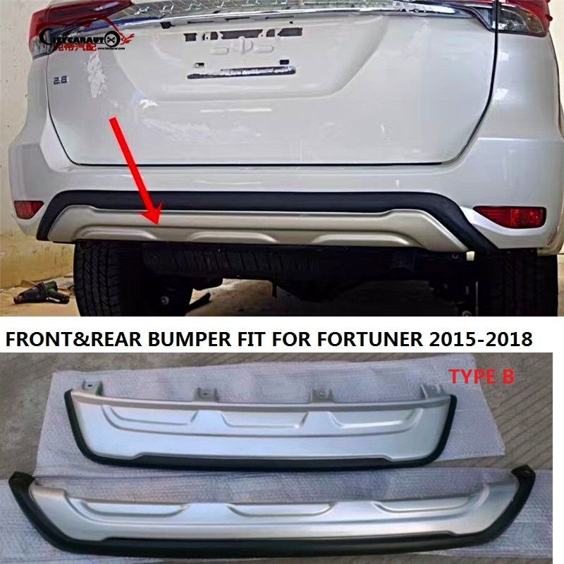 CITYCARAUTO front bumper REAR BUMPERS Rear Bumper Protector Diffuser Spoiler FIT FOR FORTUNER 2015 -2017