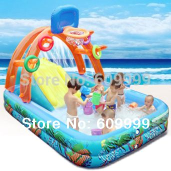 Multifunctional Castle-Shape Inflatable Paddling Pool/Swimming Pool for Kids made of NONtoxic High density Tough PVC/Play Pool