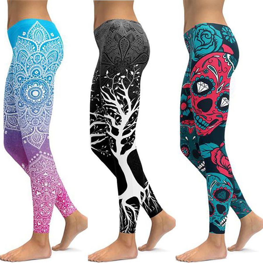 LI-FI imprimer pantalons de Yoga femmes Leggings de remise en forme uniques entraînement sport Leggings de course Sexy Push Up Gym porter un pantalon mince élastique