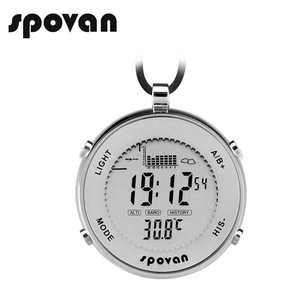Spovan deportes de los hombres reloj de bolsillo, hombres relojes impermeable/a prueba de golpes/Pesca recuerdan/LED backlight/alarma/cronómetro spv600