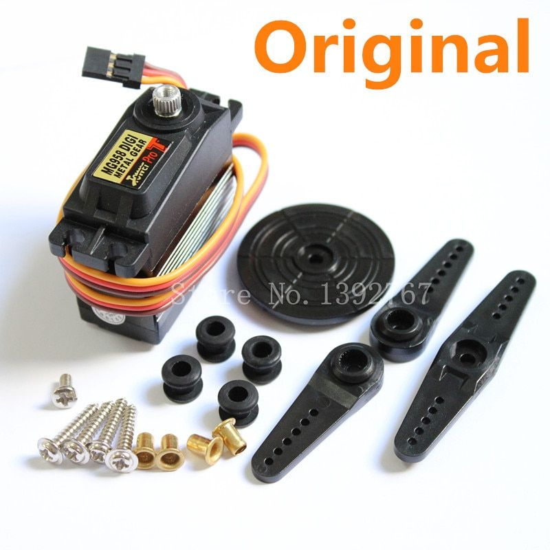 Original Tower Pro MG958 Digital Servo High Torque 15kg Standard 7075 Alloy Gear Auto RC Buggy Schiff Baja