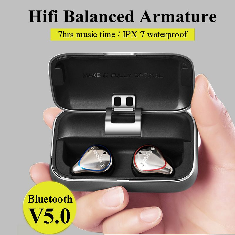 Mifo O5 Bluetooth 5,0 Wahre Drahtlose Ohrhörer Ausgewogene Bluetooth Kopfhörer Sport Stereo Sound Kopfhörer mit Lade Box für Telefon