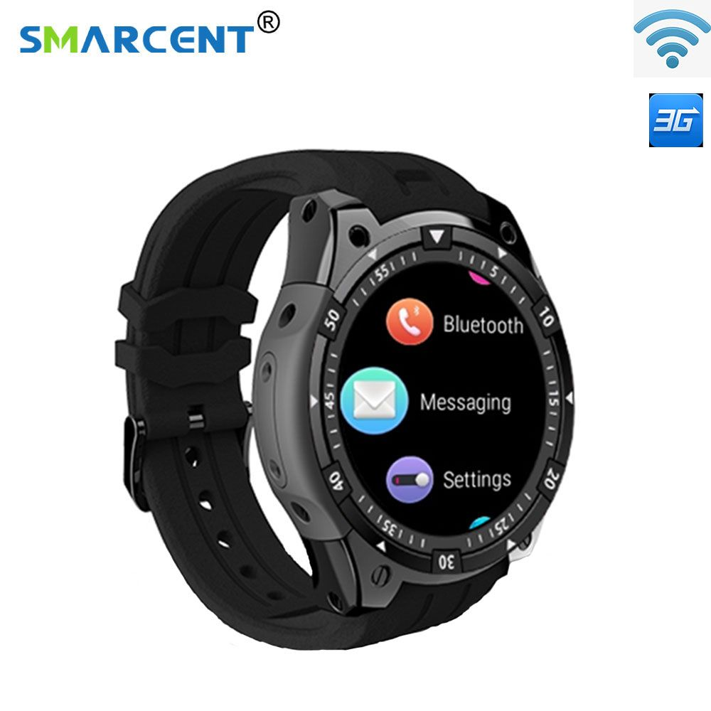 Smarcent 3g Smart Uhr X100 MTK6580 Android 5.1 Dual Core Herz Rate GPS WiFi Smartwatch für IOS & Android telefon uhr
