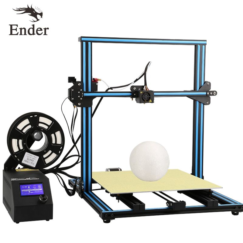 CR-10 4S 3D Printer DIY KIT Dual-Screws Rod.Filament Monitoring Alarm,Continuation Print;Large Size 400*400*400mm Creality 3D