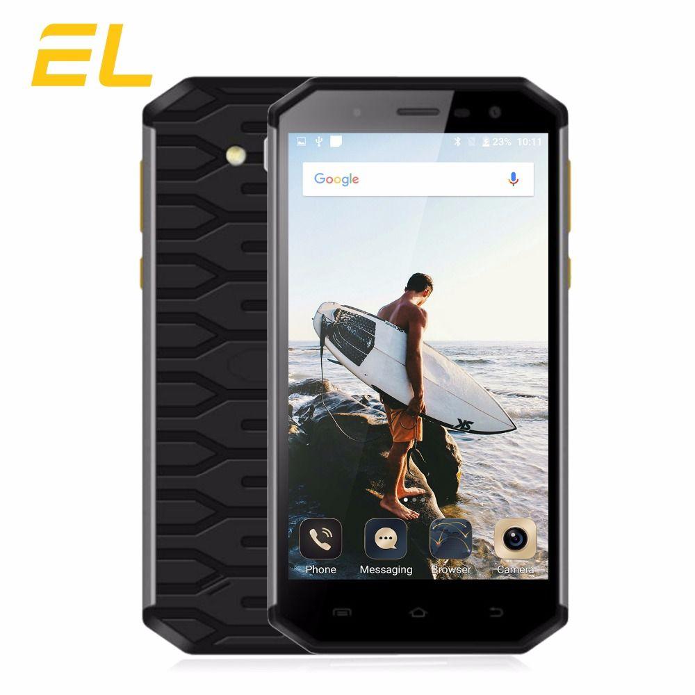 E & L S50 Robuste Mobile Téléphone Étanche Antichoc IP68 Téléphone 5.0 pouce Octa Core 3 gb + 32 gb double Sim 13MP + 8MP Smartphone Android