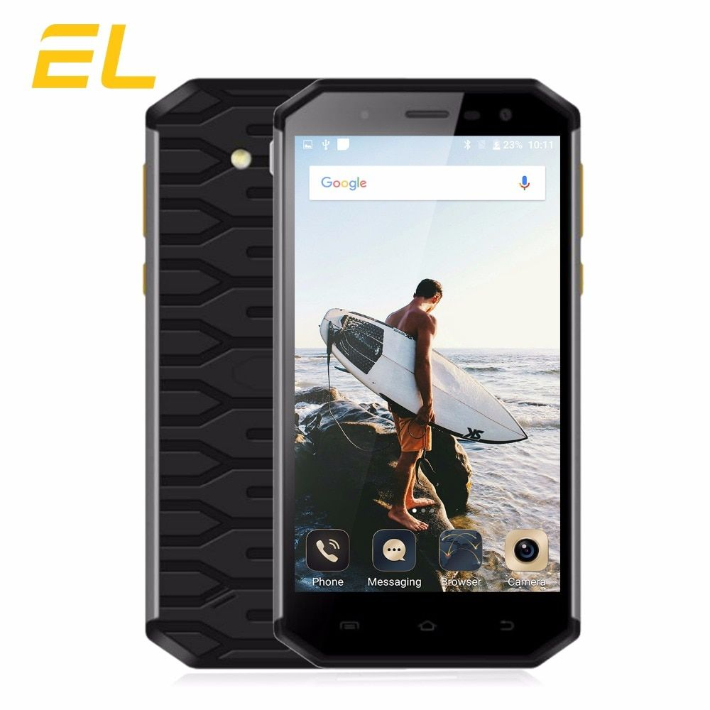E&L S50 Rugged Mobile Phone Waterproof Shockproof IP68 Phone 5.0 Inch Octa Core 3GB+32GB Dual Sim 13MP+8MP Smartphone Android
